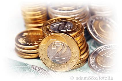 Pieniądze w polskie walucie - monety dwuzłotowe oraz pięciozłotowe